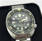 Seiko Air Diver 200m Men's Dual Language Date Stainless Steel Watch
